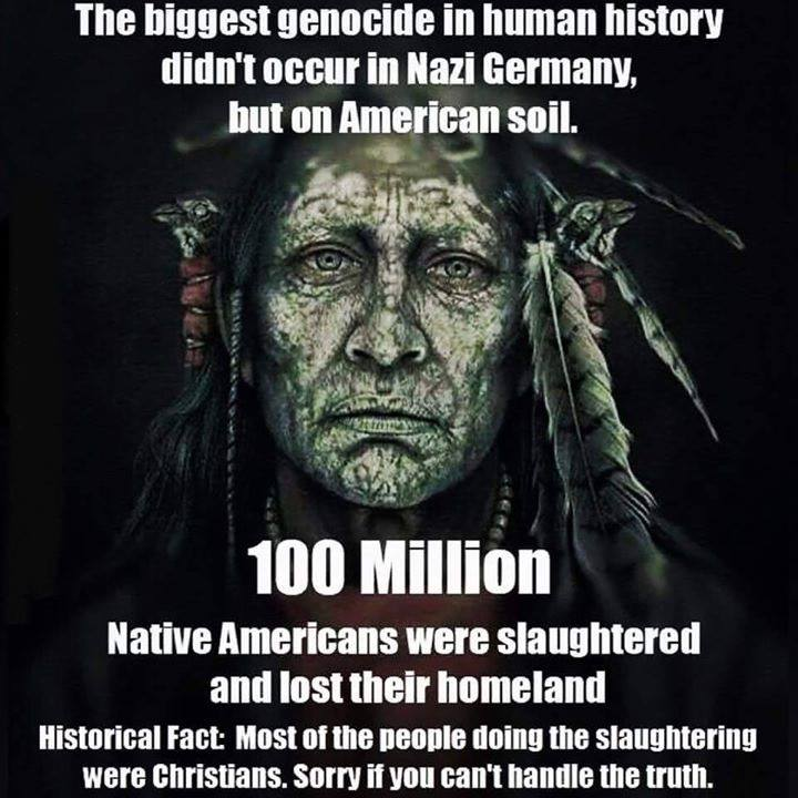 the slaughter of native americans and the Celebrating the slaughter of native americans it is the day after american thanksgiving, and hopefully most americans celebrated the day with fine food, and family we canadians celebrated our thanksgiving day over a month ago, so yesterday was just a normal day for us.